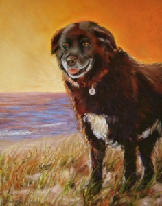 "Chloe at the Beach 11""x14"" $425"