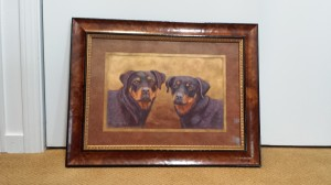 Kami and Kimber Framed and ready for the anniversary gift.