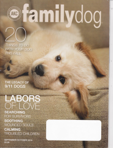 news articles in AKC Family Dog article