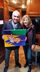 cesar millan dog portrait oil painting