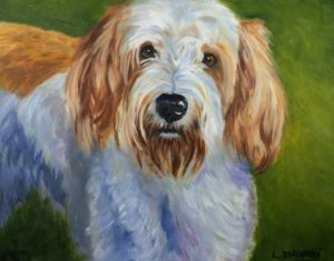 oil painting of Petit Basset Griffon Vendeen