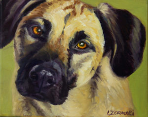 oil dog portraits by commission