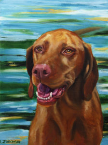 Vizsla Oil painting