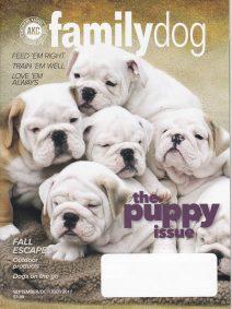 Cover of AKC Sept./Oct. Family Dog Magazine