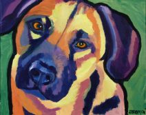 commission, dog portraits in oil or acrylic